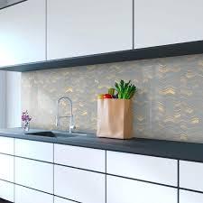 Buy Kitchen Splashback Bold Geometric Dark Grey Lines Printed Splashbacks Uk