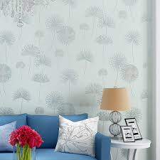 Modern Rustic Floral Wallpapers Dandelion Wallpaper For Walls Purple Wall Paper Bedroom Girls Room Pink Green In From Home