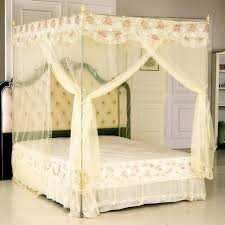 Twin Metal Canopy Bed White With Curtains by White Princess Metal Canopy Bed For Twin Size And Curtain