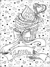 Cupcake Coloring Book Fresh Cupcake Love Cupcakes Adult Coloring