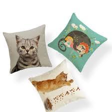anime tier custom kissen set katze mädchen sofa brief wohnzimmer hause dekoration kissenbezug polyester leinen kissen ein
