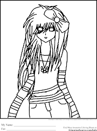Emo Coloring Pages Printable Cartoon Pinterest For