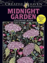 Creative Haven Midnight Garden Coloring Book Heart Flower Designs On A Dramatic Black Background Books