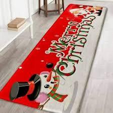 details zu rutschfeste teppich santa weihnachtsmatte küche badezimmer teppichboden dekor