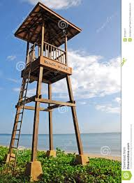 Beach Lifeguard Chair Plans by Close Up Lifeguard Tower On The Beach Stock Image Image 35192511