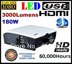 free shipping hd tv led projector 3000 lumens 1024x600 home