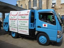 Garbage Collection Trucks From Japan Were Handed Over To El Koura