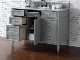 Awesome Contemporary 48 Inch Single Bathroom Vanity Gray Finish No