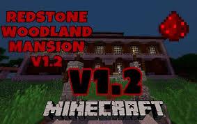 redstone woodland mansion creation map minecraft pe