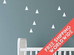 stikers chambre bebe triangle blanc autocollants muraux stickers chambre bébé