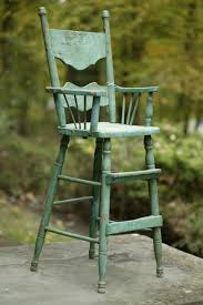 Child's Primitive Wood High Chair Would Make A Wonderful ...