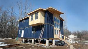104 Building A Home From A Shipping Container Is Labor Of Love For Ny Couple
