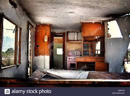Interior Of An Old Derelict Caravan