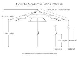 Patio Furniture Dimensions Impressive Umbrella Size For Table The Buyers Guide With All