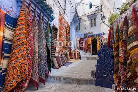 magasin de tapis magasin de tapis à chefchaouen maroc photo libre de droits sur