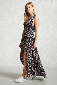floral print wrap maxi dress forever 21 2000233718