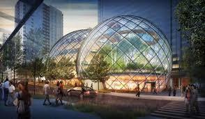 un siege social amazon s offre un siège social futuriste et écolo en bulles de verre