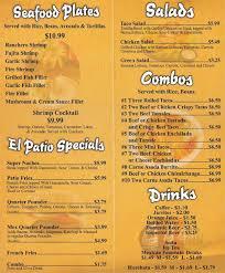 El Patio Eau Claire Hours by El Patio Restaurant Menu Outdoor Goods