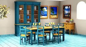 Blue Dining Table Set Regency Room Sets