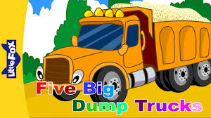 Five Big Dump Trucks | Learning Songs | Little Fox | Animated Songs ...