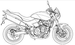 Download Motorcycle Coloring Pages 2 Print