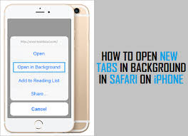 How to Open New Tabs in Background in Safari iPhone
