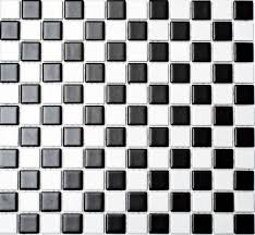 mosaik fliese keramikmosaik schachbrett schwarz weiß matt 18 0305