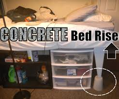 Sturdy Bed Risers by Concrete Bed Risers 5 Steps