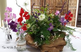 Rustic Wedding Flowers Table Centre Design