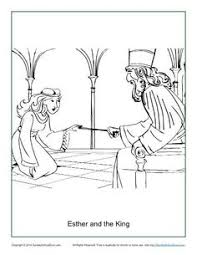 Esther And The King Coloring Page