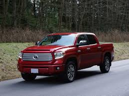 2014 Toyota Tundra CrewMax Platinum Road Test Review   CarCostCanada New For 2015 Toyota Trucks Suvs And Vans Jd Power Cars 2014 Tacoma Prerunner First Test Tundra Interior Accsories Top Toyota Tundra Accsories 32014 Pickup Recalled For Engine Flaw File2014 Crewmax Limitedjpg Wikimedia Commons Drive Automobile Magazine 2013 Vs Supercharged With Go Rhino Front Rear Bumpers Sale In Collingwood