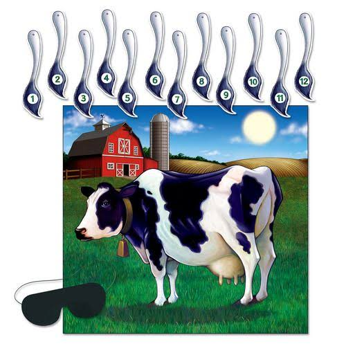 "Beistle Pin The Tail On The Cow Game, 17"" x 18.25"" - 7 pack"