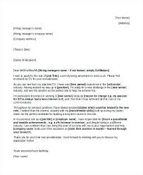 Cover Letter Change Of Career Mid Free Template