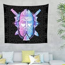 rinvyintte viking kompliziert tapisserie mit hippie wall