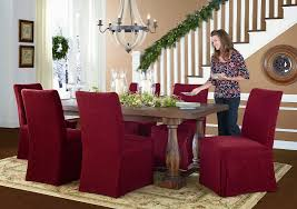 Bright Ideas Christmas Dining Room Chair Covers Furniture Luxury Decor With Slipcovers Treatment