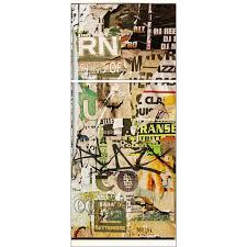 sticker porte cuisine sticker frigo électroménager déco cuisine tag graffiti 70x170cm