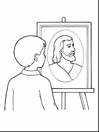 Excellent Boy Coloring Page Jesus Loves With Me And