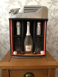 Jerry Can Mini Bar Silver Upcycle Xmas Gift Man Cave