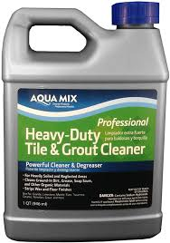 aqua mix heavy duty tile and grout cleaner quart floor