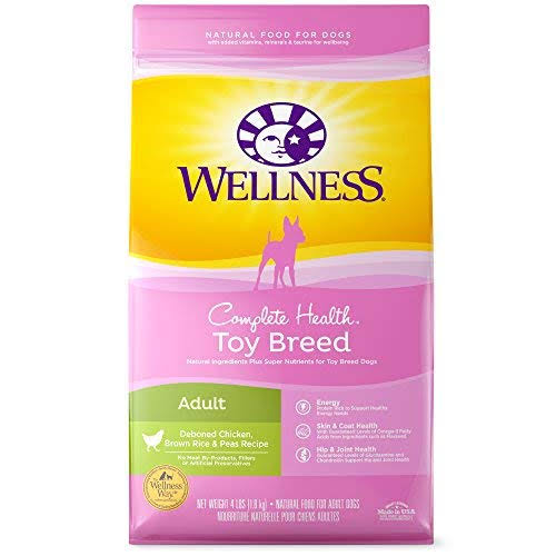 Wellness Toy Breed Complete Health Dog Food - Chicken Brown Rice and Peas, Adult
