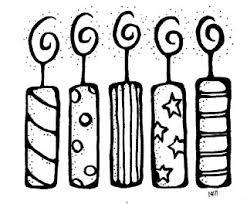 Birthday black and white black clipart