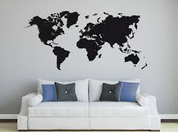 wandaufkleber weltkarte landkarte welt erde planet