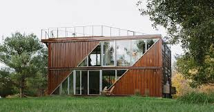 104 Shipping Container Design Lot Ek Combines Six S Into Family House In New York