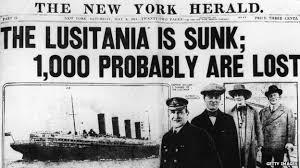 ww1 sinking of lusitania recalled bbc news