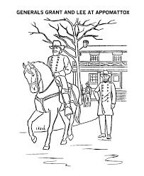 General Lee Surrenders Coloring Page