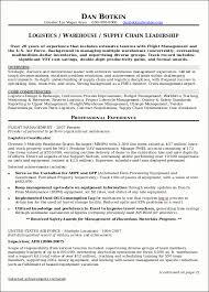 Resume Sample Supply Chain Executive