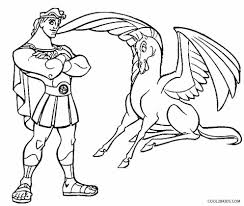 Awesome Disney Hercules Pegasus Coloring Pages Free 16 P