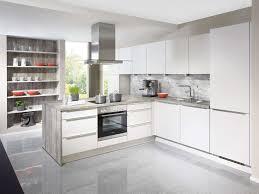 weiße l küche mit insel küchen ideen