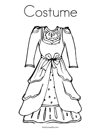 Attractive Design Coloring Page Dress Costume