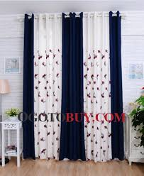 Navy Blue And White Dining Room Curtains Loading Zoom